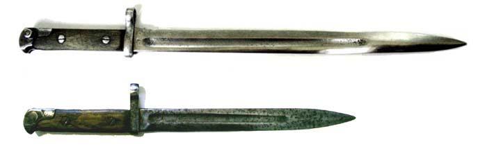 Штыки к винтовкам СВТ-38 (вверху) иСВТ-40
